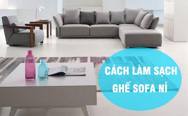Cẩm nang làm sạch ghế sofa vải như mới